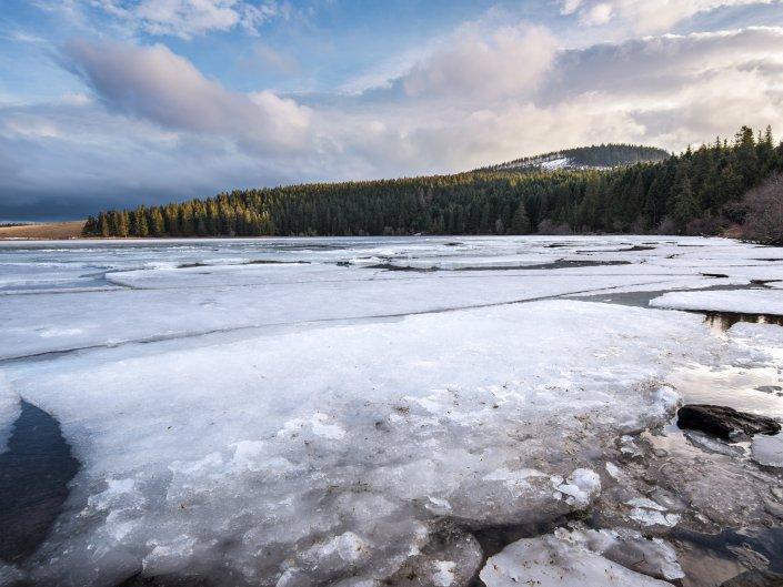 Lac de Servières gelé – France